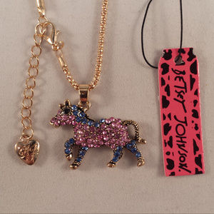 Betsey Johnson Running Horse Necklace + Free Gift!